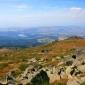 Скали и поглед от поляна преди връх Селимица, Витоша